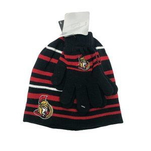 NHL Ottawa Senators Hat and Glove Set / Size 8-16